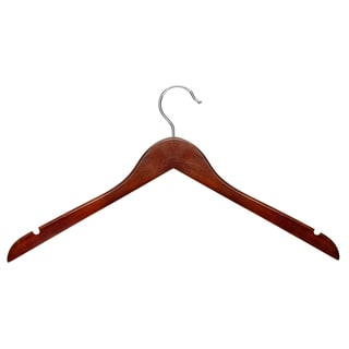 Honey Can Do HNG-01213 Cherry Finish Basic Shirt Hanger 5-ct