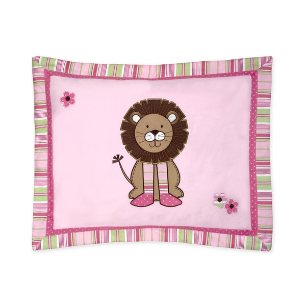 Sweet Jojo Designs Jungle Friends Collection Standard Pillow Sham