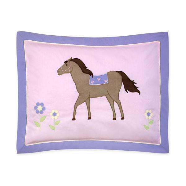 Sweet Jojo Designs Pretty Pony Collection Standard Pillow Sham