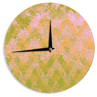 KESS InHouseMarianna Tankelevich 'Fuzzy Feeling' Wall Clock