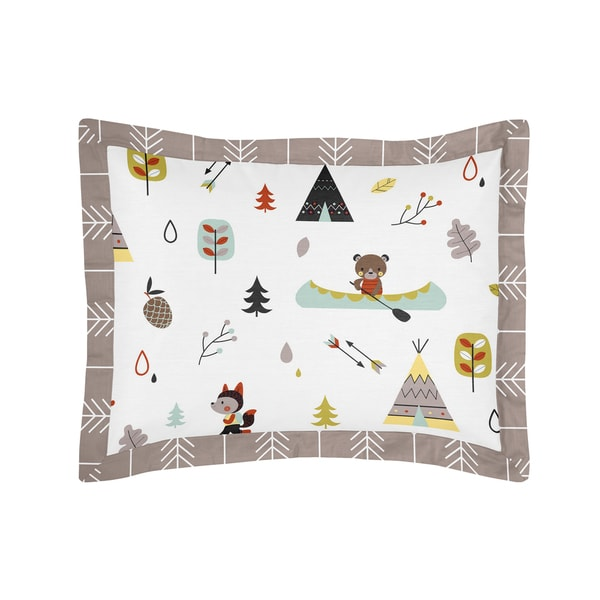 Outdoor Adventure Collection Standard Pillow Sham by Sweet Jojo Designs