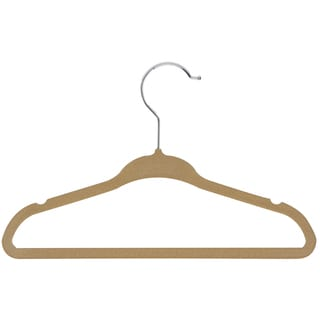 Honey Can Do HNG-01092 Tan Velvet Touch Kids Hanger 10-ct