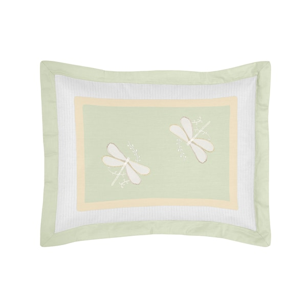Green Dragonfly Dreams Collection Standard Pillow Sham by Sweet Jojo Designs