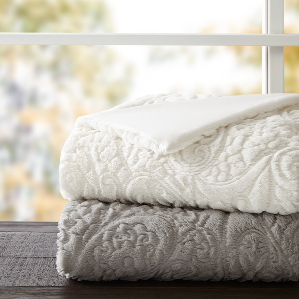 Madison Park Albany Ultra Plush Down Alternative Throw 2-Color Options