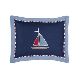Sweet Jojo Designs Nautical Nights Collection Standard Pillow Sham