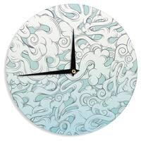 KESS InHouseMat Miller 'Entangled Souls' Wall Clock