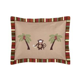 Sweet Jojo Designs Monkey Time Collection Standard Pillow Sham