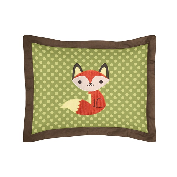 Sweet Jojo Designs Forest Friends Collection Standard Pillow Sham