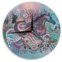 KESS InHouseMat Miller 'Poetry in Motion' Wall Clock