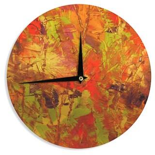 KESS InHouseJeff Ferst 'Autumn' Orange Red Wall Clock
