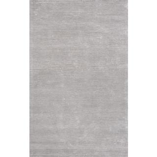 Pasargad's Edgy Collection Hand-tufted Viscose from Bamboo and Wool Silver Area Rug (8' x 10')