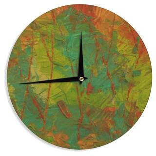 KESS InHouseJeff Ferst 'Evergreens' Green Red Wall Clock