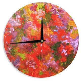 KESS InHouseJeff Ferst 'Summer Garden' Floral Painting Wall Clock