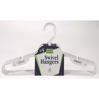 Merrick C89521SNC12 WHT Swivel Hook Suit/Coordinate Hanger