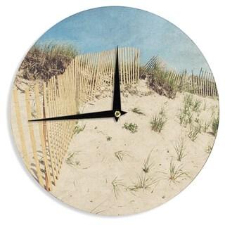 KESS InHouseJillian Audrey 'Cape Dunes' Brown Blue Wall Clock