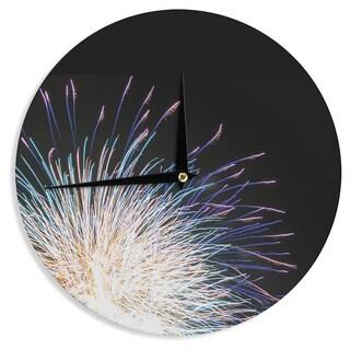 KESS InHouseJillian Audrey 'Firework' Black Pastel Wall Clock