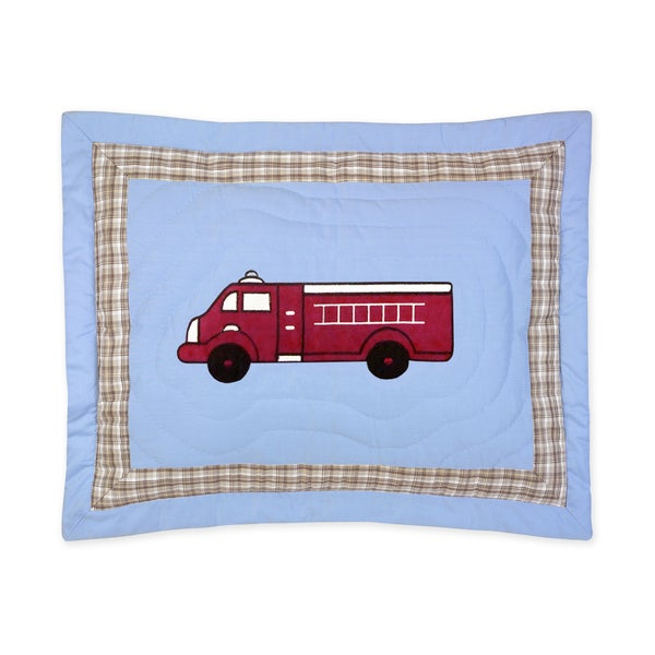 Sweet Jojo Designs Frankie's Firetruck Collection Standard Pillow Sham