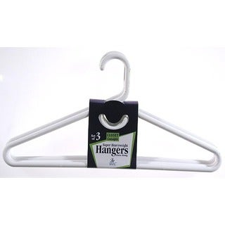 Merrick C86311SHW WHT White Super Heavy Weight Tubular Hanger w/ Hook 3-ct