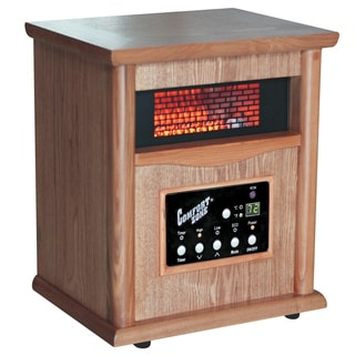 "Comfort Zone CZ2020O 10.5"" X 12.75"" X 15"" Oak Deluxe Infrared Cabinet Heater"