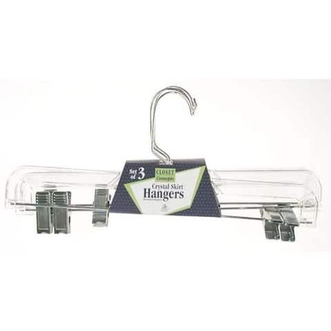 Merrick C713105 CRYST Crystal Skirt Hangers 3 Pack