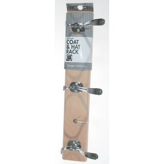 Whitmor 6026-541 3 Hook Coat & Hat Rack