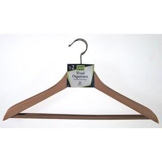 Merrick C68220WD WOOD Contoured Wood Suit Hanger