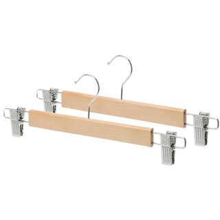 Whitmor 6026-311 Natural Wood Skirt Hangers