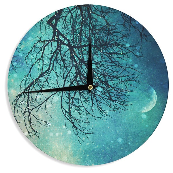 KESS InHouseSylvia Cook 'Winter Moon' Wall Clock