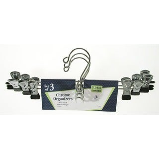 Merrick C66300CH CHRM Skirt & Slack Hanger 3-ct