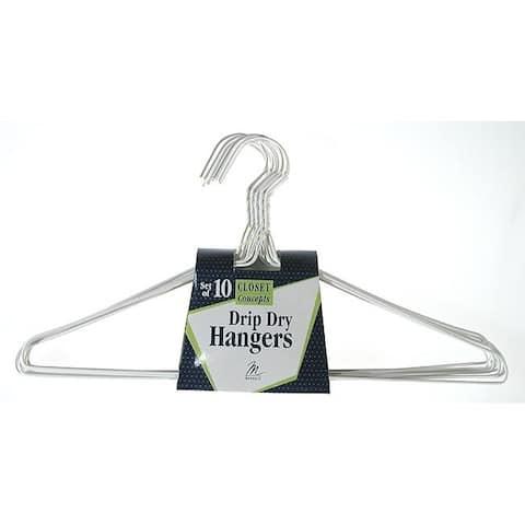 Merrick C53611DH WHT Vinyl Coated Drip Dry Hanger