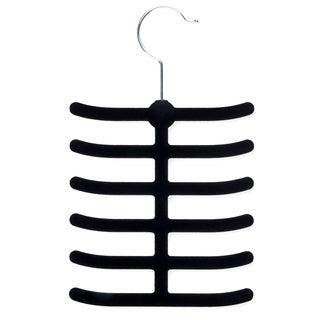 Honey Can Do HNG-01955 Black Velvet Touch Tie Hanger 2-ct
