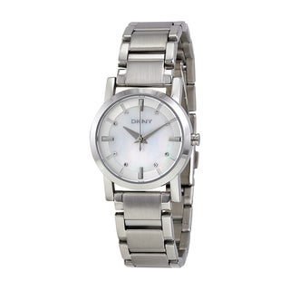 DKNY Women's NY4519 Silver Stainless Steel Quartz Watch with Mother-Of-Pearl Dial