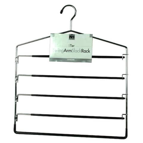 Organize It All 1302-6 Five Tier Swing Arm Slack Hanger