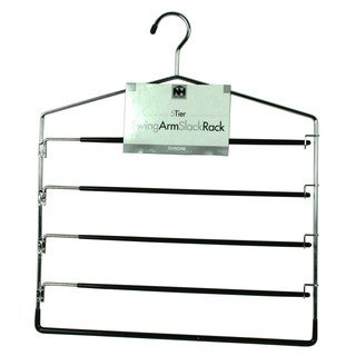 Organize It All 1302-6 Five Tier Swing Arm Slack Hanger