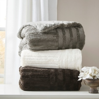Madison Park Polar Ultra Plush Down Alternative Throw 3-Color Options