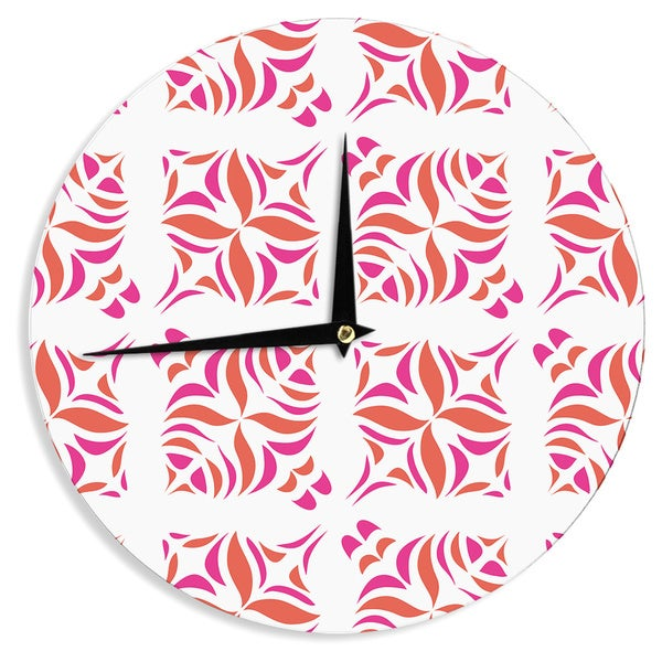 KESS InHouseMiranda Mol 'Orange Oasis' Wall Clock