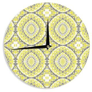 KESS InHouseMiranda Mol 'Yellow Tessellation' Wall Clock