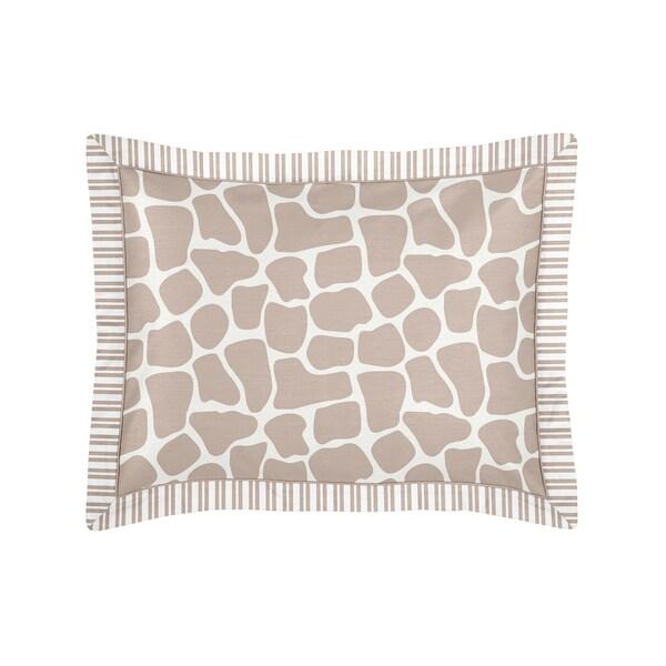 Sweet Jojo Designs Giraffe Collection Standard Pillow Sham