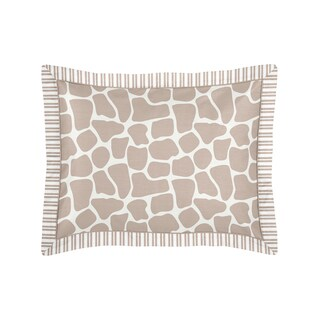 Sweet Jojo Designs Giraffe Collection Standard Pillow Sham