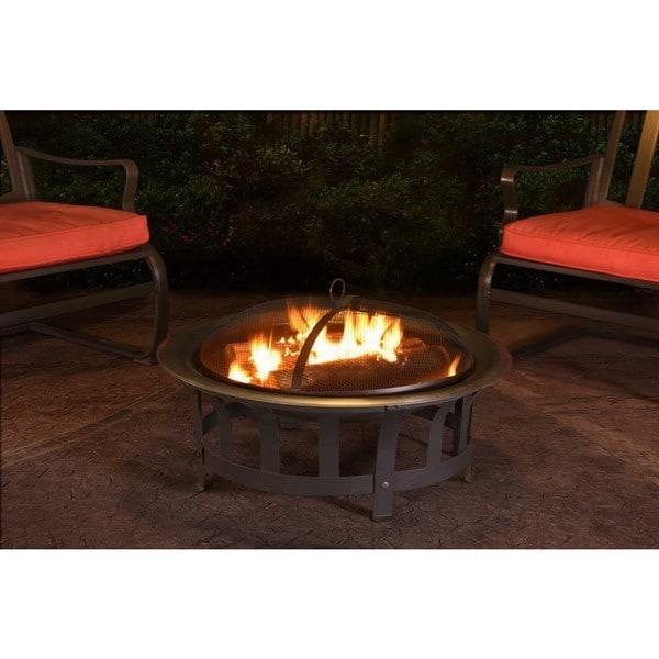 Shop Sunjoy Dalton 30-inch Steel Fire Pit