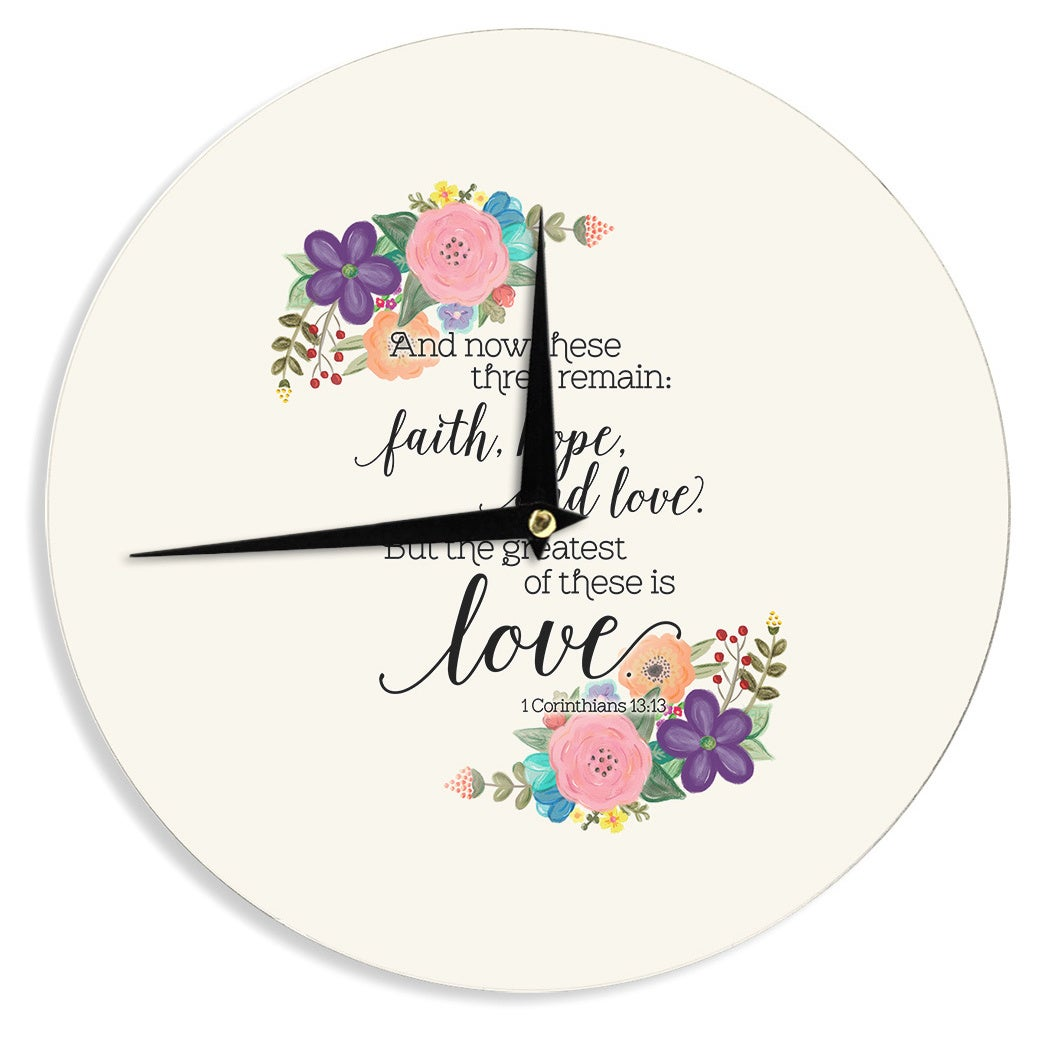 Kess InHouse Noonday Design'Faith, Hope, And Love' Beige ...