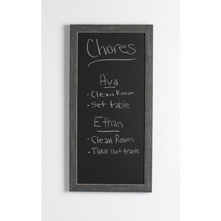 Designovation Wyeth Grey Plastic Framed Magnetic Chalkboard
