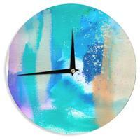 KESS InHouse Li Zamperini 'About' Blue Teal Wall Clock