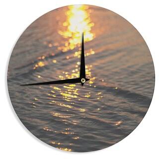 KESS InHouse Libertad Leal 'Still Waters' Sunset Wall Clock