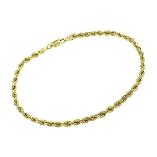is chain mm s x gold thick bracelet itm braided image twisted mens rope loading plated inch