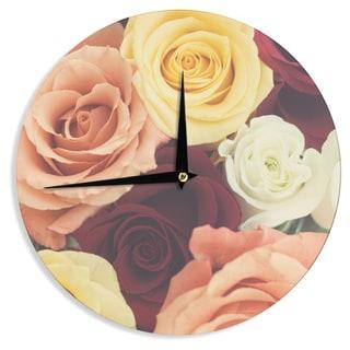 KESS InHouse Libertad Leal 'Vintage Roses' Wall Clock