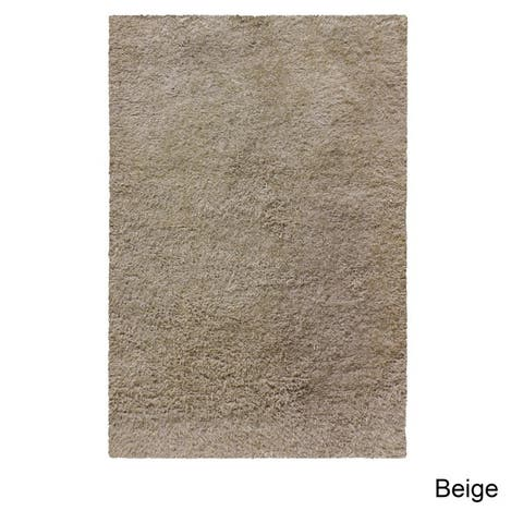 Superior Hand-tufted Plush Solid Shag Indoor Area Rug Collection
