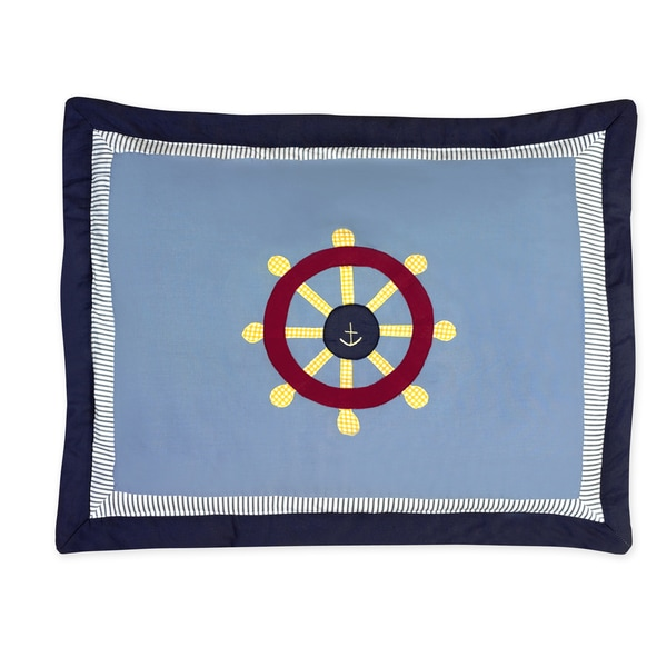 Sweet Jojo Designs Come Sail Away Collection Standard Pillow Sham