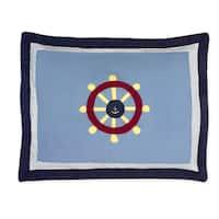 Sweet Jojo Designs Come Sail Away Collection Standard Pillow Sham