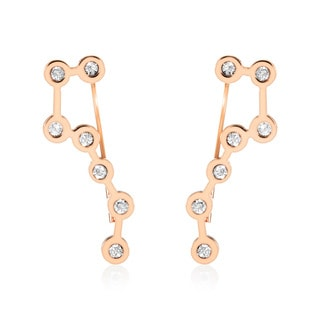 ELYA Rose Gold Big Dipper Crystal Asterism Stainless Steel Dangle Earrings